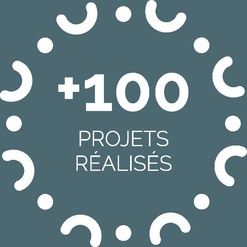 pictogramme + de 100 projets